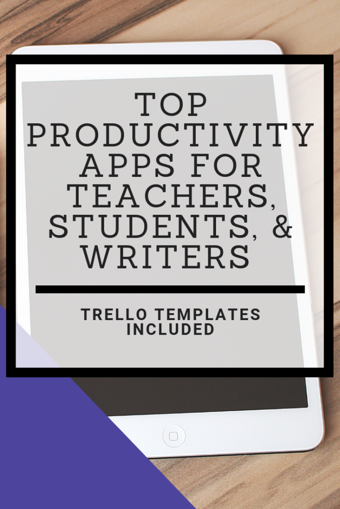 Looking for help keeping yourself productive? Here are my top productivity apps for teachers, students, and writers. Most of them are free!