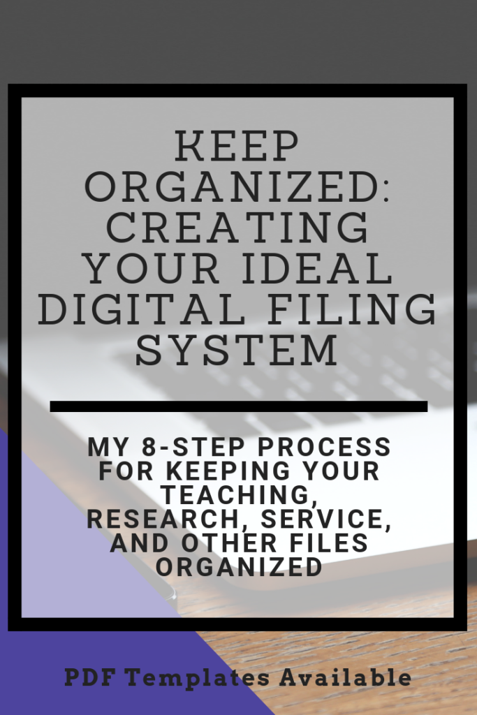 Looking for a way to keep all your digital teaching files organized? Here's a step-by-step guide to keeping your files easy to find and track. There are free templates you can download, too! #teaching