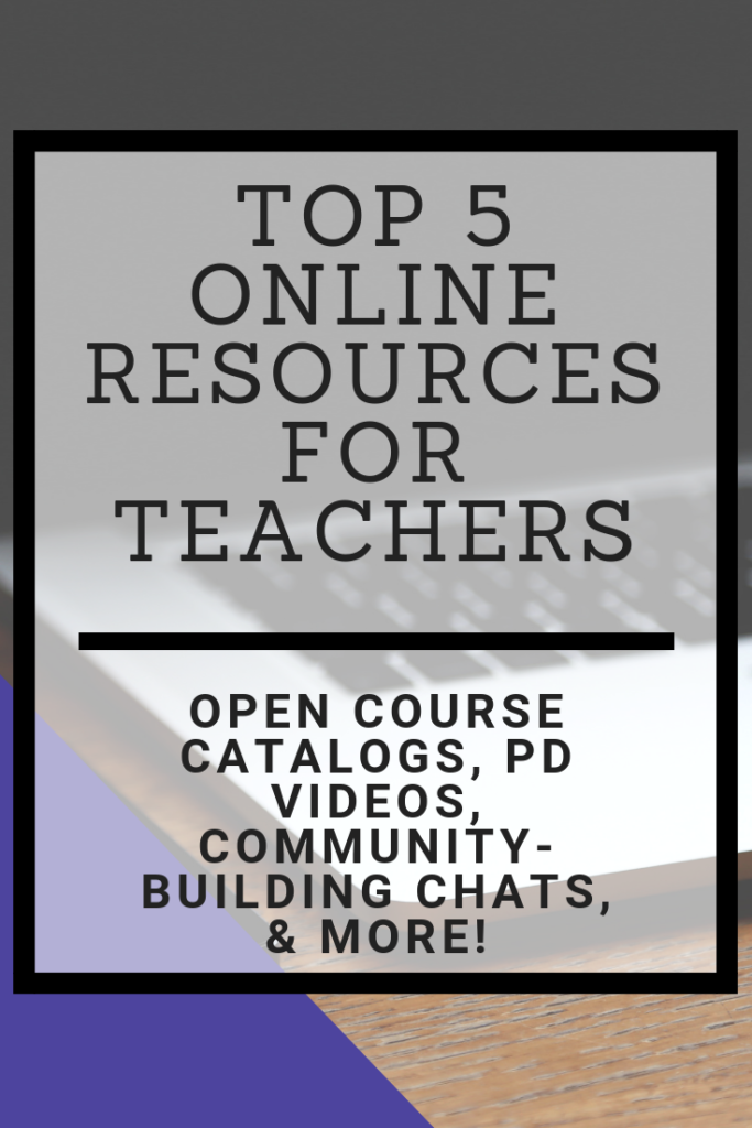Looking for online resources to use while doing your teaching professional development? Here are five options to consider to improve your teaching practices and experience. #teaching