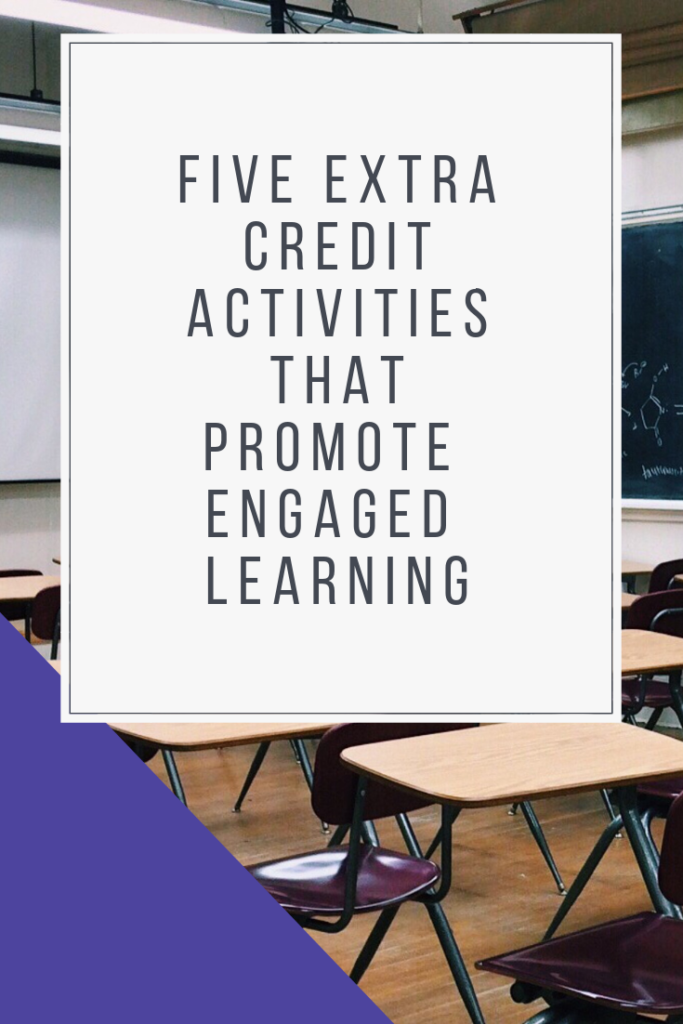 Want to offer extra credit activities that actually offering engaged learning opportunities for your students? Here are five ideas for extra credit activities to assign to your students. #extracredit