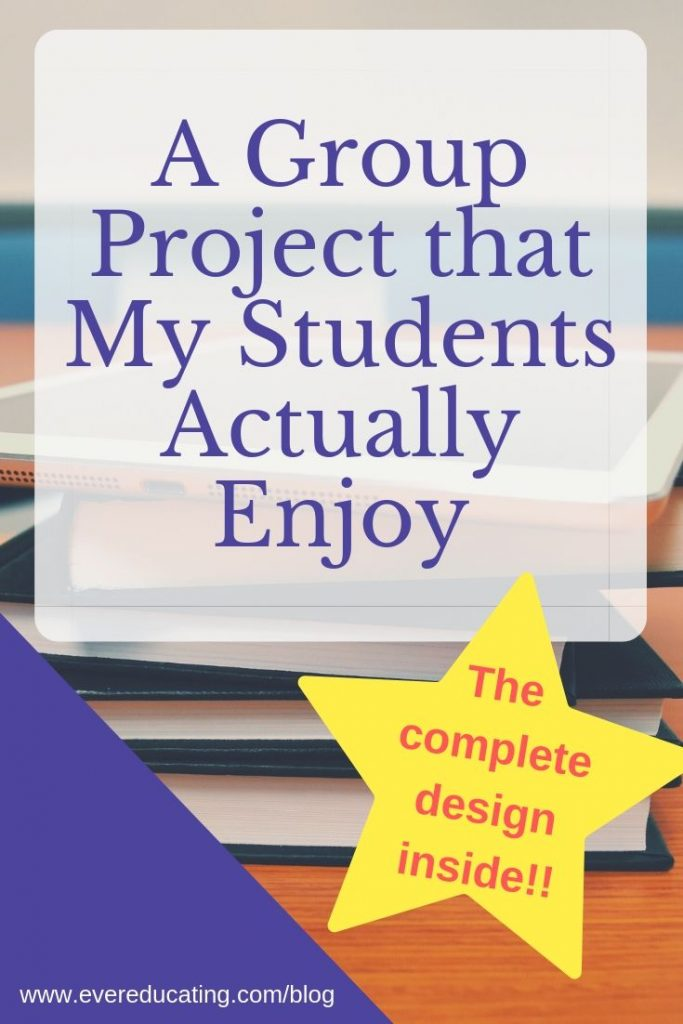 Looking for a group project design that students will actually enjoy? Here's exactly how I've designed my group project to help engage my students! #teacher #assignment #ELA