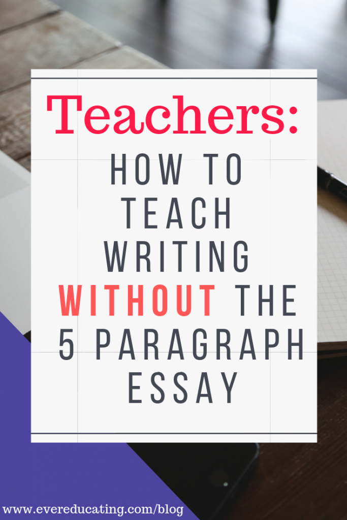 Do you teach writing, but hate the 5 paragraph essay? Here's the teaching tool I use when teaching college writing in my first year composition course. #teachwriting #teachcollege #teacher #collegewriting #writingresource #teachingresource #ELA