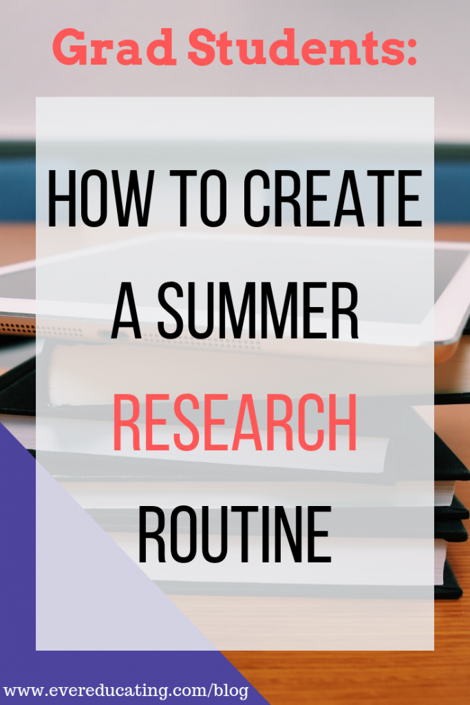 Grad student or new college instructor? Struggling with how to approach all the research you need to do? Here are the steps I take to create a strong research routine. #gradstudent #research