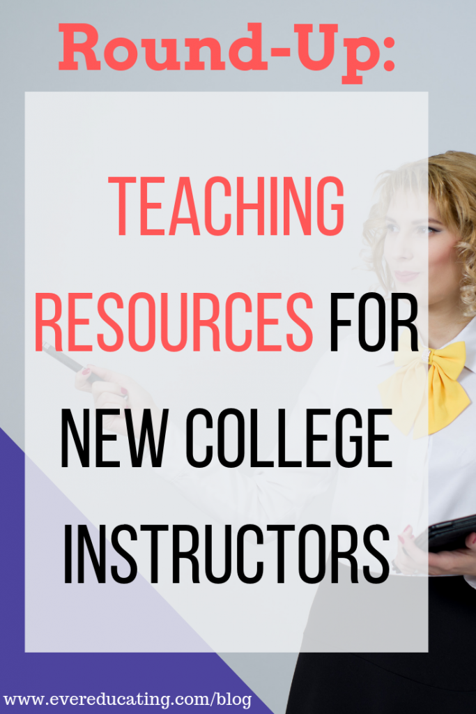 In this post, you'll find a list of blog posts full of teaching tips, tools, ideas, and resources. If you're teaching a college course for the first time soon, this round-up is for you. It can feel overwhelming when first getting started in teaching. Use these resources to help you feel more confident. #education