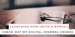 Customizable Digital Journal Course