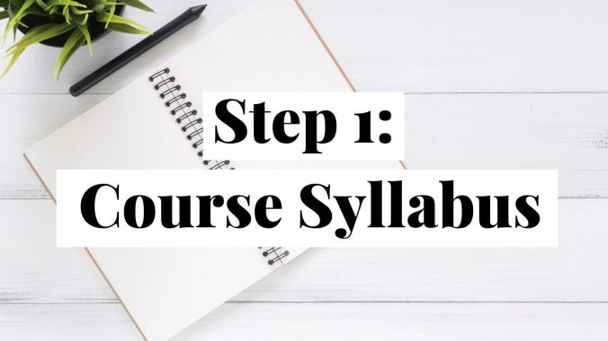 Successful Start: Create Your Course Syllabus
