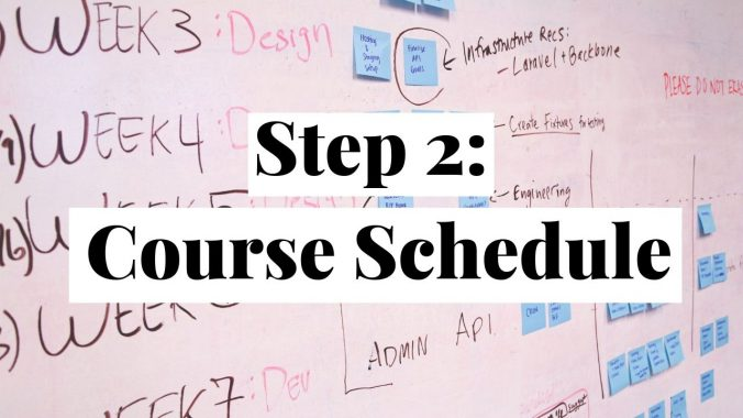 College Course Schedule Scaffolding Examples Erika Romero