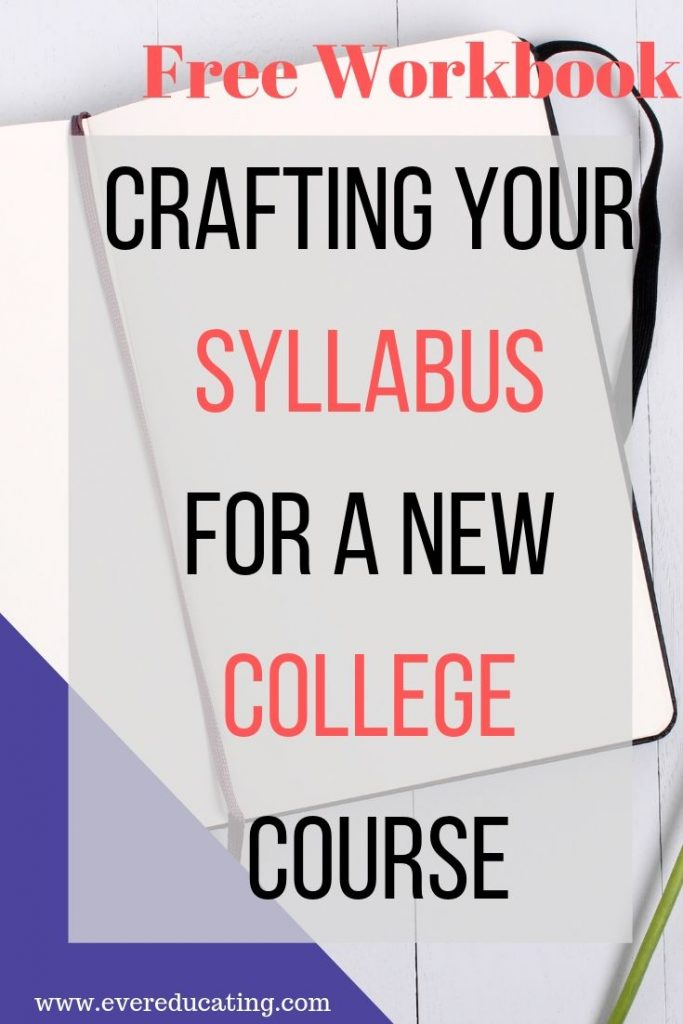 New to teaching a college course? Here are examples of all the main elements of a course syllabus, with my added commentary on each element. There's a free workbook, too, that guides you through creating your own syllabus from scratch.