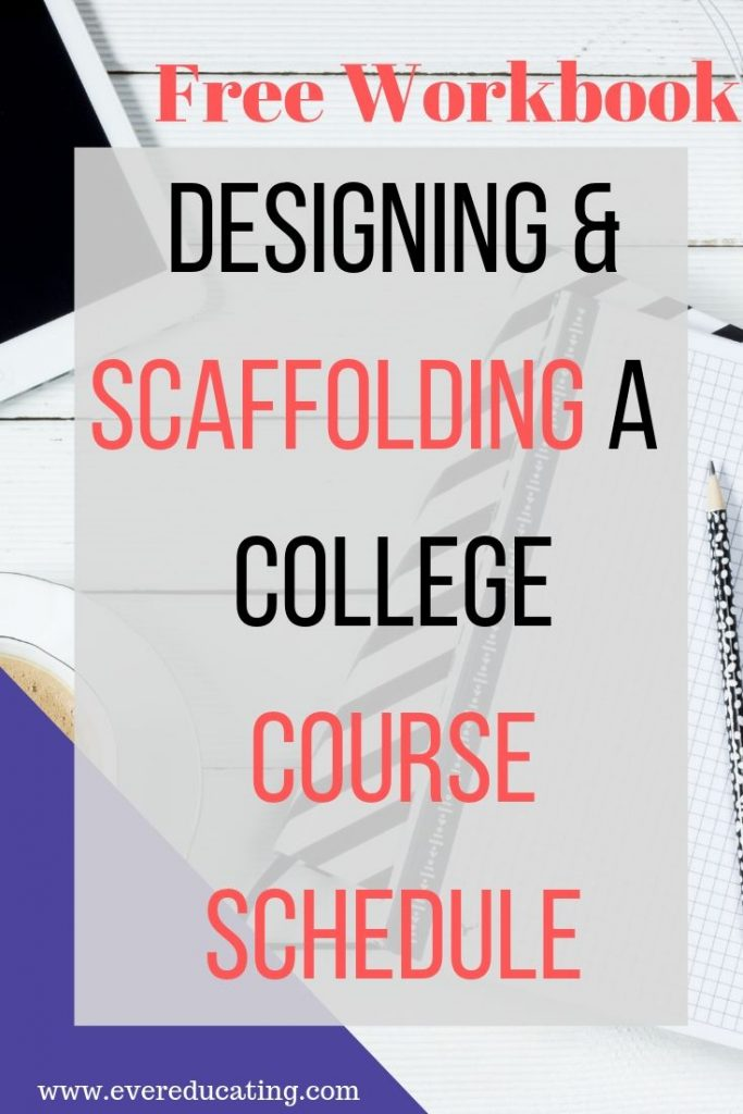 Creating a course schedule that won't overwhelm you or your students can be a challenge. Here are four examples schedules that I've successfully used to teach college courses. #college #teacher