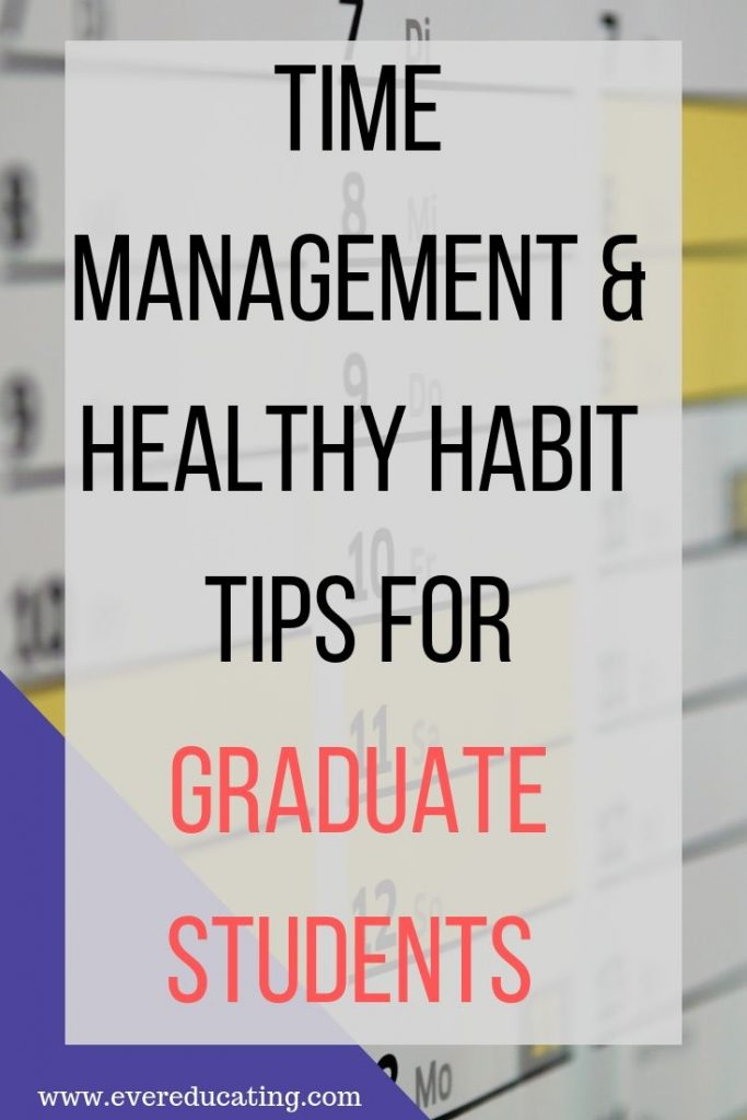 Are you a new graduate student looking for time management and healthy habit strategies? Are you teaching for the first time as part of your grad student responsibilities? Here are 12 tips for balancing your course work, teaching, other academic tasks, and life outside of school.