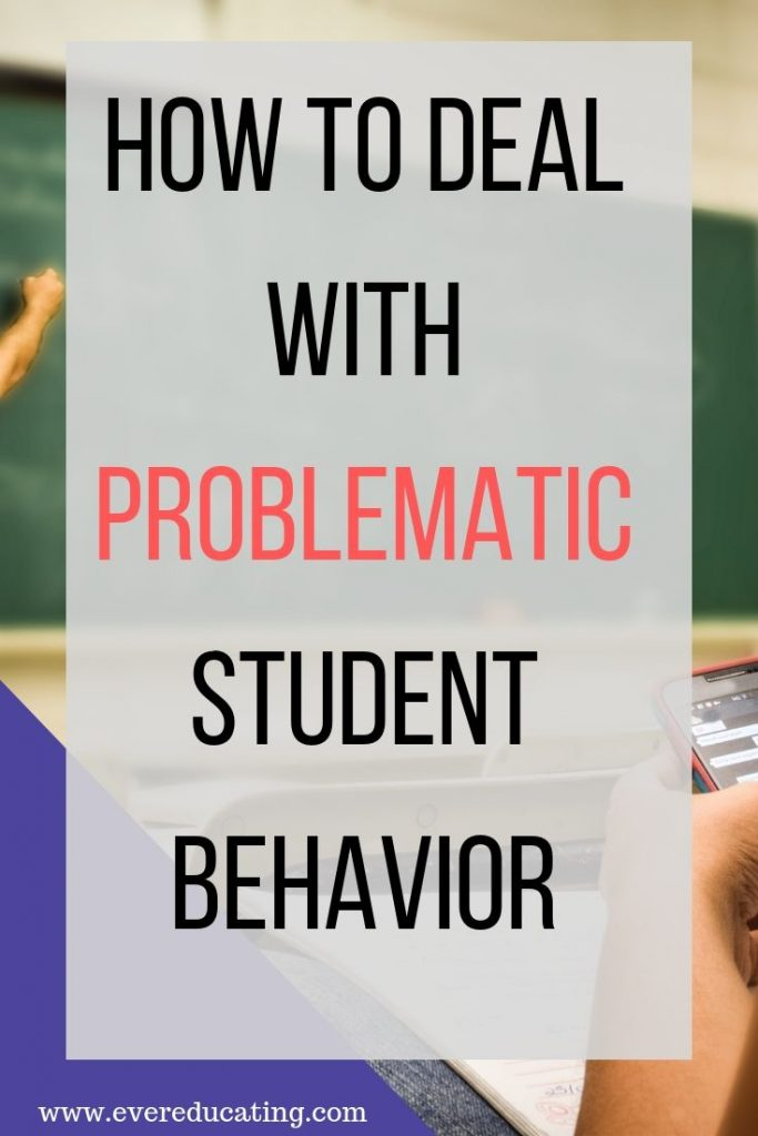 Struggling with frustration or anger towards your students because of how they are acting in class? Here are some steps to take to figure out what's wrong and come up with solutions. #education #classroommanagement