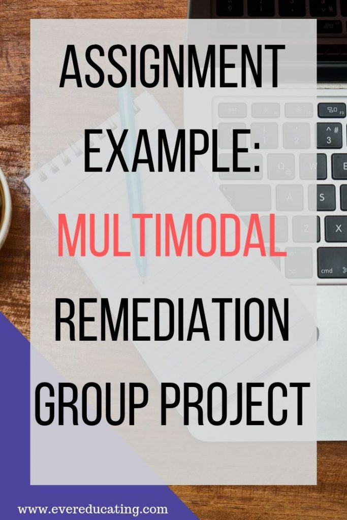 Want your students to practice their multimodal writing skills? Here's a fun remediation project that your students will really enjoy. #writing #multimodal