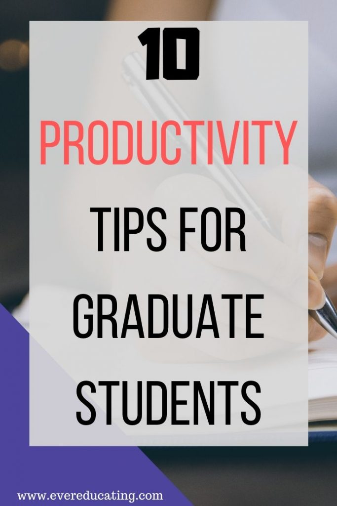 Get productive this year by following these ten productivity tips for grad students. While anyone can use these tips, academics in particular should take advantage. #gradschool #productivity