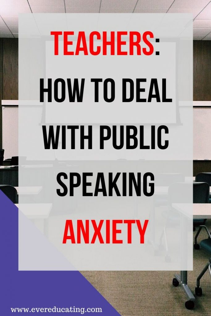 Are you a teacher with public speaking anxiety? Don't let a fear of public speaking keep you from enjoying your dream job. Try out these five approaches to dealing with this fear and anxiety. #teacher #publicspeaking