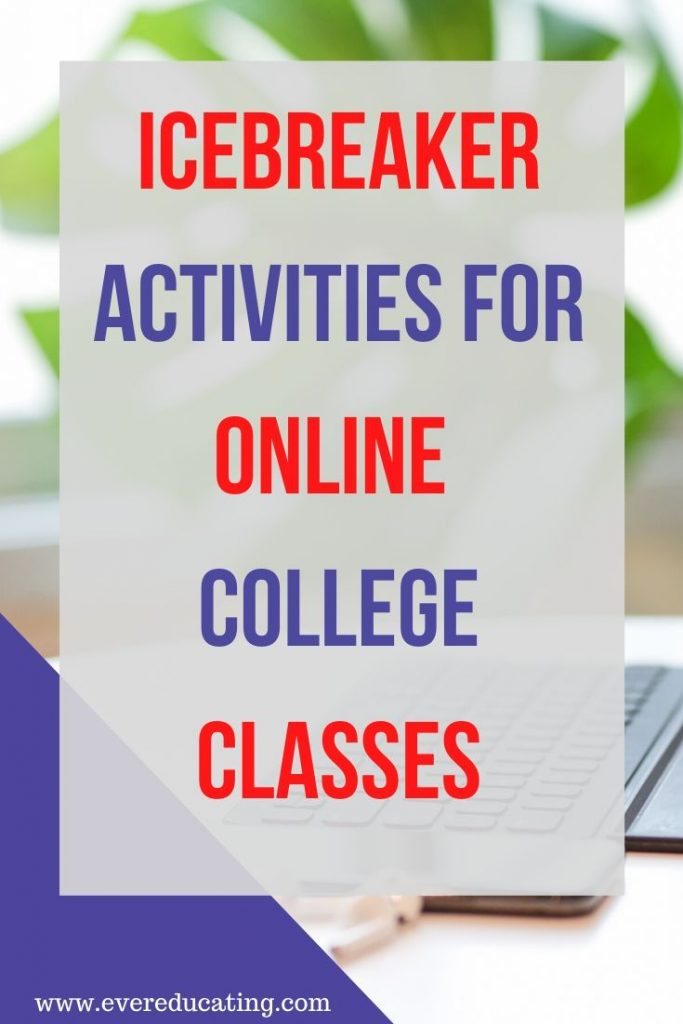 I've been looking for icebreaker activity ideas for my new online classes since I've been teaching remotely. These five ideas can be used in a lot of different ways to help strengthen my online class community. #education #onlineteaching