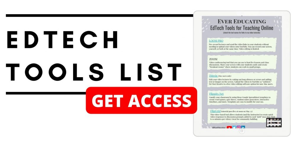 EDTECH TOOLS LIST BY EVER EDUCATING