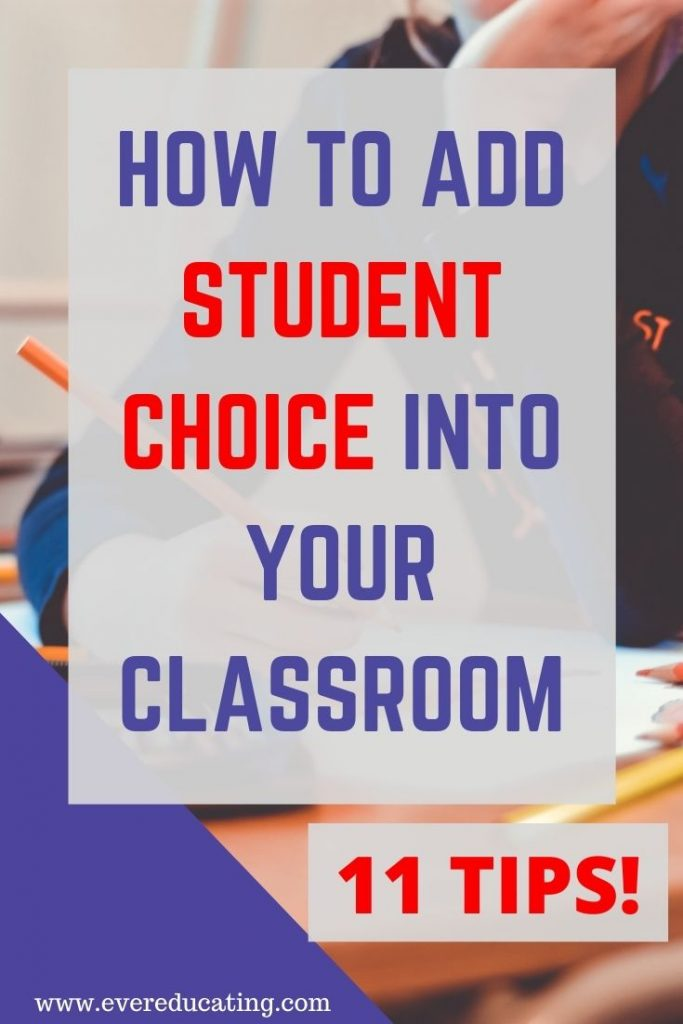 Here are 11 tips for giving students choices in your classroom. Help students feel empowered and more engaged! #education #teaching