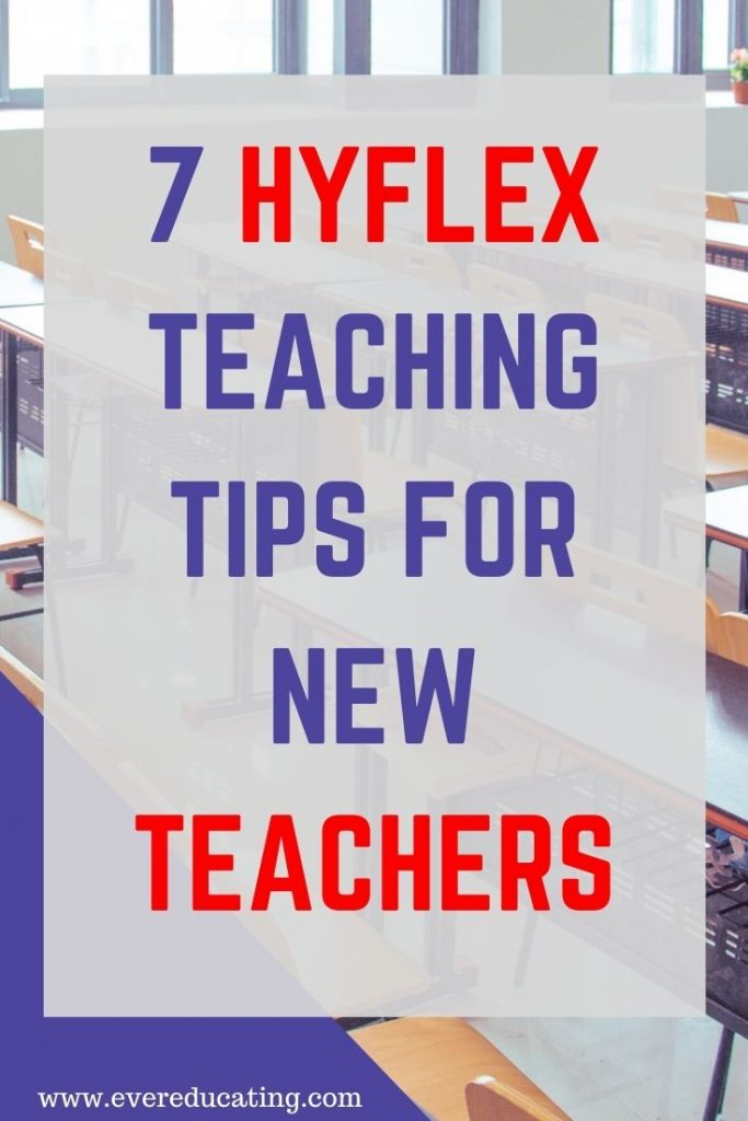 Here are 7 tips for hyflex teaching after a semester experiencing it for the first time. #education #highereducation #hyflex